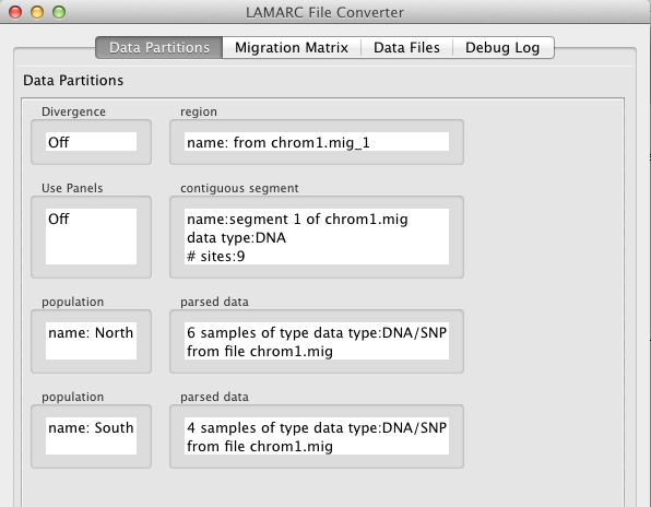 LAMARC Documentation: Data file conversion